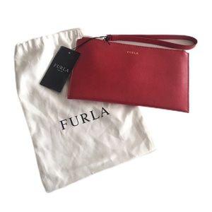Furla Bags - NWT - Furla Babylon Red Envelop Leather Wristlet